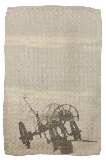 Plow in Blizzard Kitchen Towel