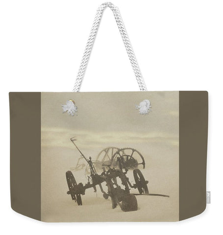 Plow in Blizzard Weekender Tote bag