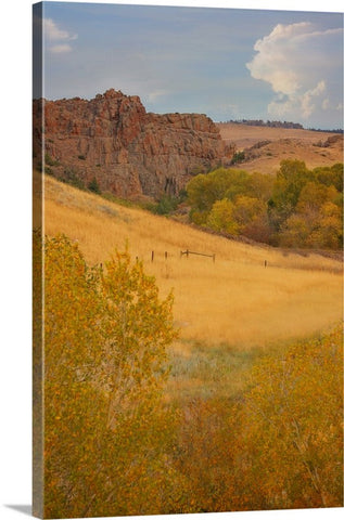 Powder River Fence Canvas Print