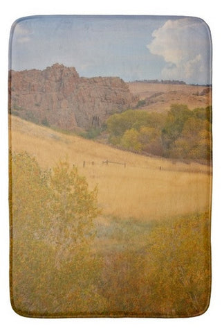 Powder River Fence Bath Mat