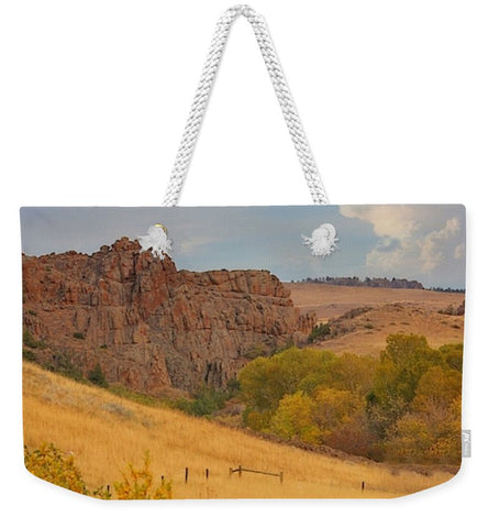 Powder River Fence Weekender Tote bag