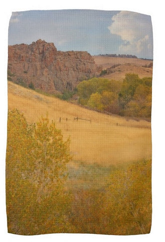 Powder River Fence Kitchen Towel