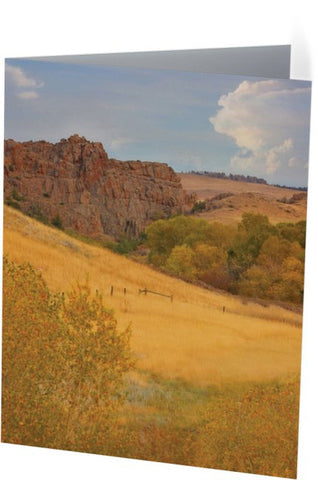 Powder River Fence Note Cards and Greeting Cards (12 Pack)