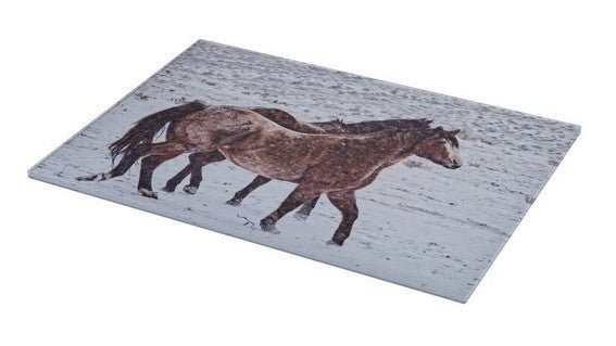 Prancing in the Snow Cutting Board