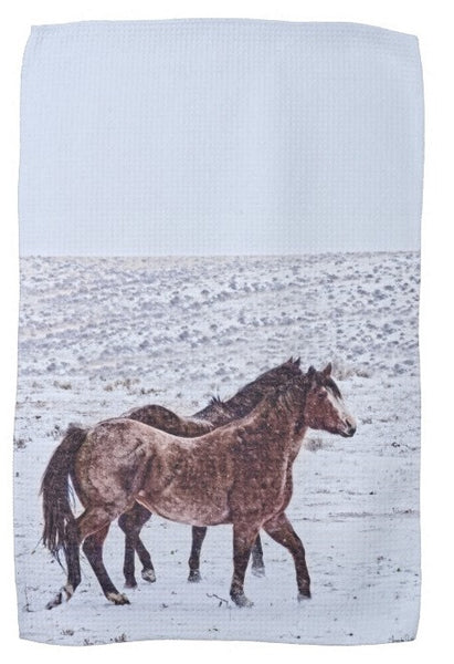 Prancing in the Snow Kitchen Towel