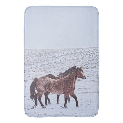 Prancing in the Snow Bath Mat