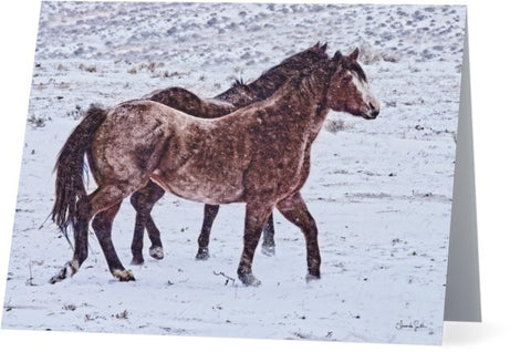 Prancing in the Snow Note Cards and Greeting Cards (12 Pack)