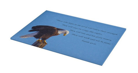 Preparing for Patriotic Flight Eagle Inspirational Cutting Board