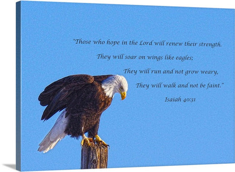 Preparing for Patriotic Flight Eagle Inspirational Canvas Print