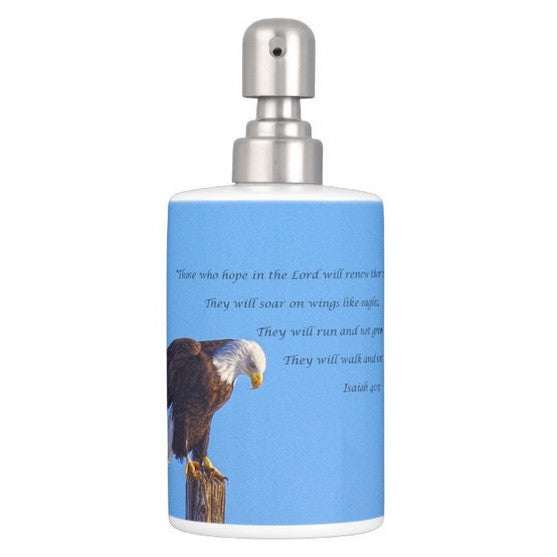 Preparing for Patriotic Flight Eagle Inspirational Bathroom Set