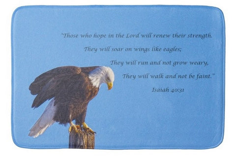 Preparing for Patriotic Flight Eagle Inspirational Bath Mat