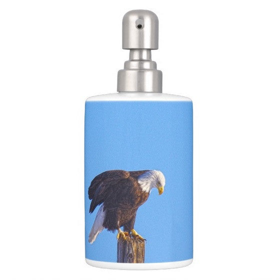 Preparing for Patriotic Flight Eagle Bathroom Set