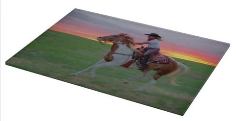 Racing the Sunset Cutting Board
