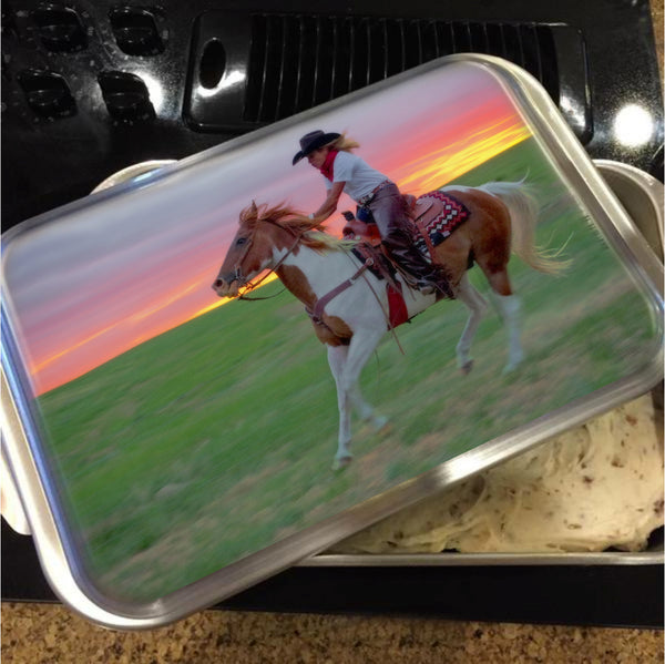 Racing the Sunset Cake Pan with Lid