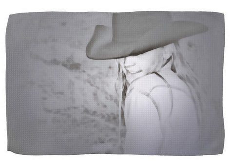 Rainy Day Cowgirl Kitchen Towel