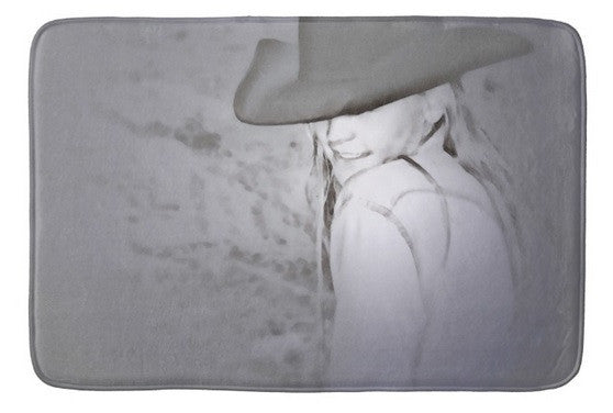 Rainy Day Cowgirl Bath Mat