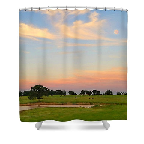 Ranch Setting with Moon Shower Curtain