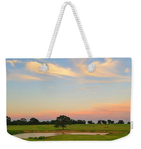 Ranch Setting with Moon Weekender Tote bag