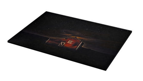 Red Barn at Midnight Cutting Board