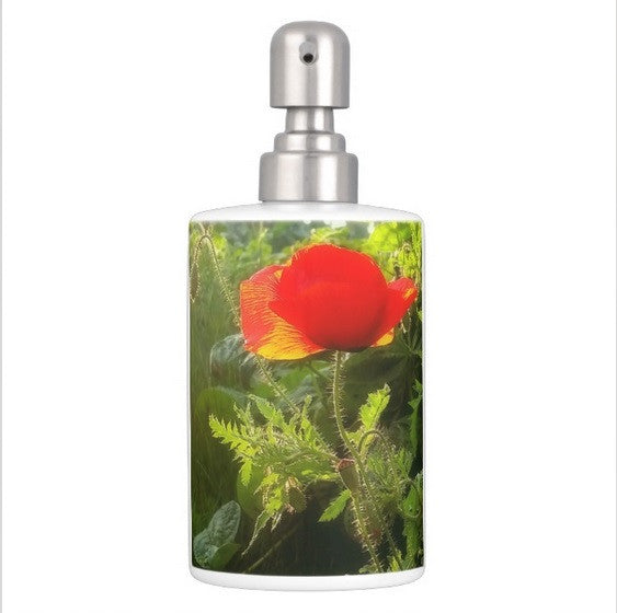 Red Poppy at Sunset Bathroom Set