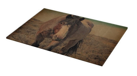 Red Roan and Sage Brush Cutting Board