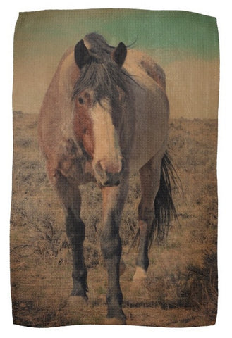 Red Roan and Sage Brush Kitchen Towel