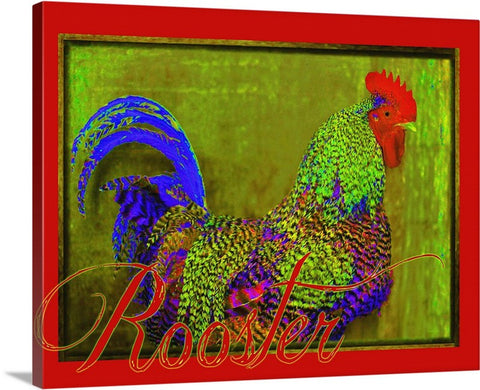 Bert the Rooster Red Canvas Print