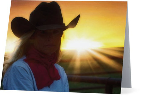 Red Scarves and Sunsets Note Cards and Greeting Cards (25 Pack)