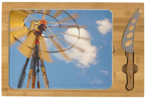 Red Wind Windmill Cheese Board