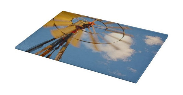 Red Wind Windmill Cutting Board