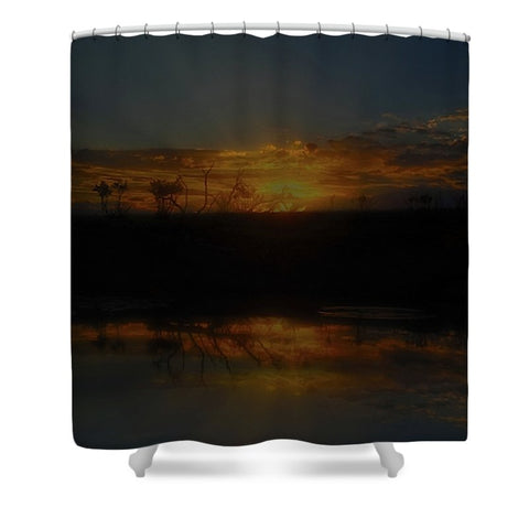 Reservoir At Sunset Shower Curtain