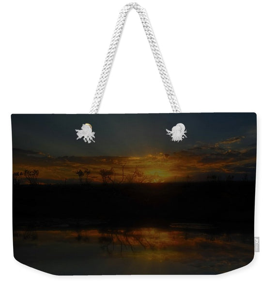 Reservoir At Sunset Weekender Tote bag