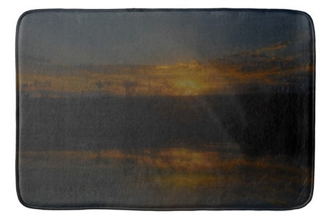 Reservoir At Sunset Bath Mat