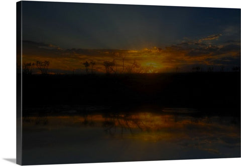 Reservoir At Sunset Canvas Print