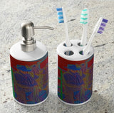 Retro Vintage Cowboy Bathroom Set
