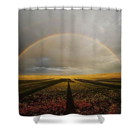 Right Time Right Place Shower Curtain