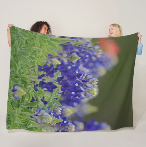Roadside Beauties Fleece Blanket