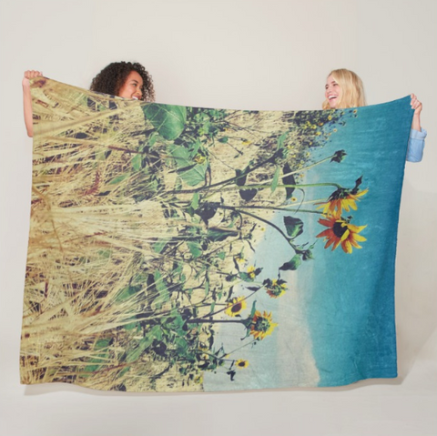 Roadside Conversation Fleece Blanket