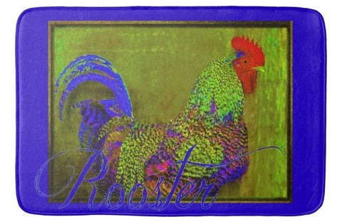 Bert the Rooster Bath Mat