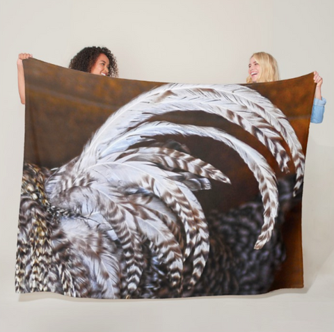 Rooster's Tail Fleece Blanket
