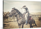 Roped and Ready Canvas Print