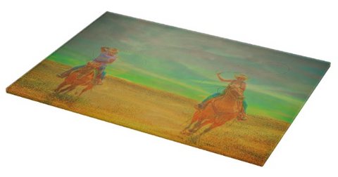Ropin' Two Cutting Board