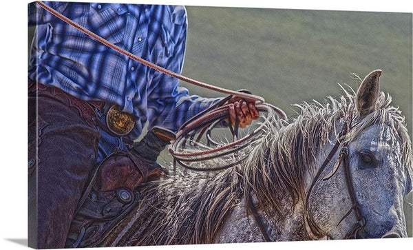 Ropin' it Rough Canvas Print