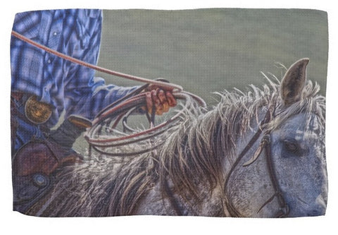 Ropin' it Rough Kitchen Towel