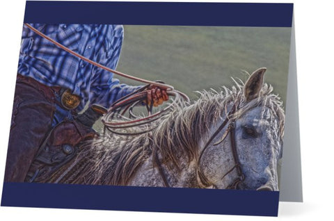 Ropin' it Rough Note Cards and Greeting Cards (25 Pack)