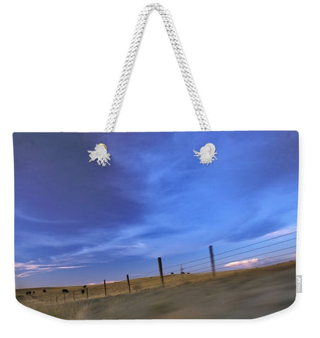 Running the Fenceline Weekender Tote bag