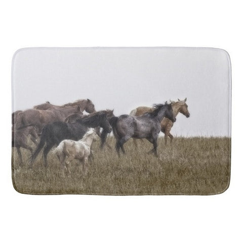 Running on November's Wind Bath Mat