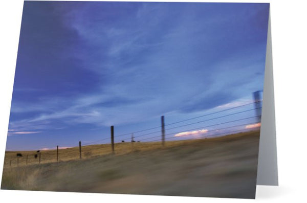 Running the Fenceline Note Cards and Greeting Cards (25 Pack)