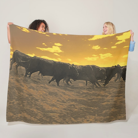 Running with the Boys Fleece Blanket