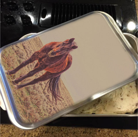 Rust and Prairie Wise Cake Pan with Lid